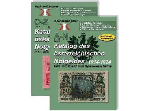 Katalog des österreichischen Notgeldes 1914-1924  (2 Bände)