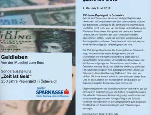 """Papiergeldausstellung """"Zeit ist Geld"""""""