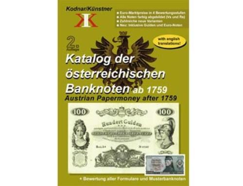 Neuerscheinung: Katalog der österreichischen Banknoten ab 1759