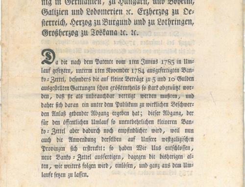 Offizielle Kundmachungen zu den österreichischen Banknoten online nachlesen!