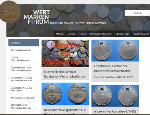 Wertmarkenforum.de – Linktipp für Notmünzen und Geldersatzmarken Sammler