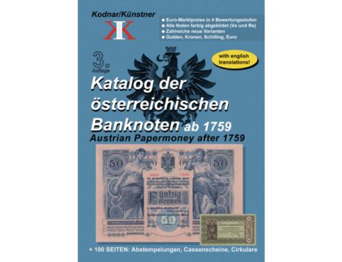 Katalog der österreichischen Banknoten ab 1759, 3. Auflage