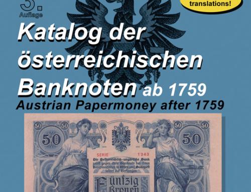Neuerscheinung: Katalog der österreichischen Banknoten ab 1759, 3. Auflage
