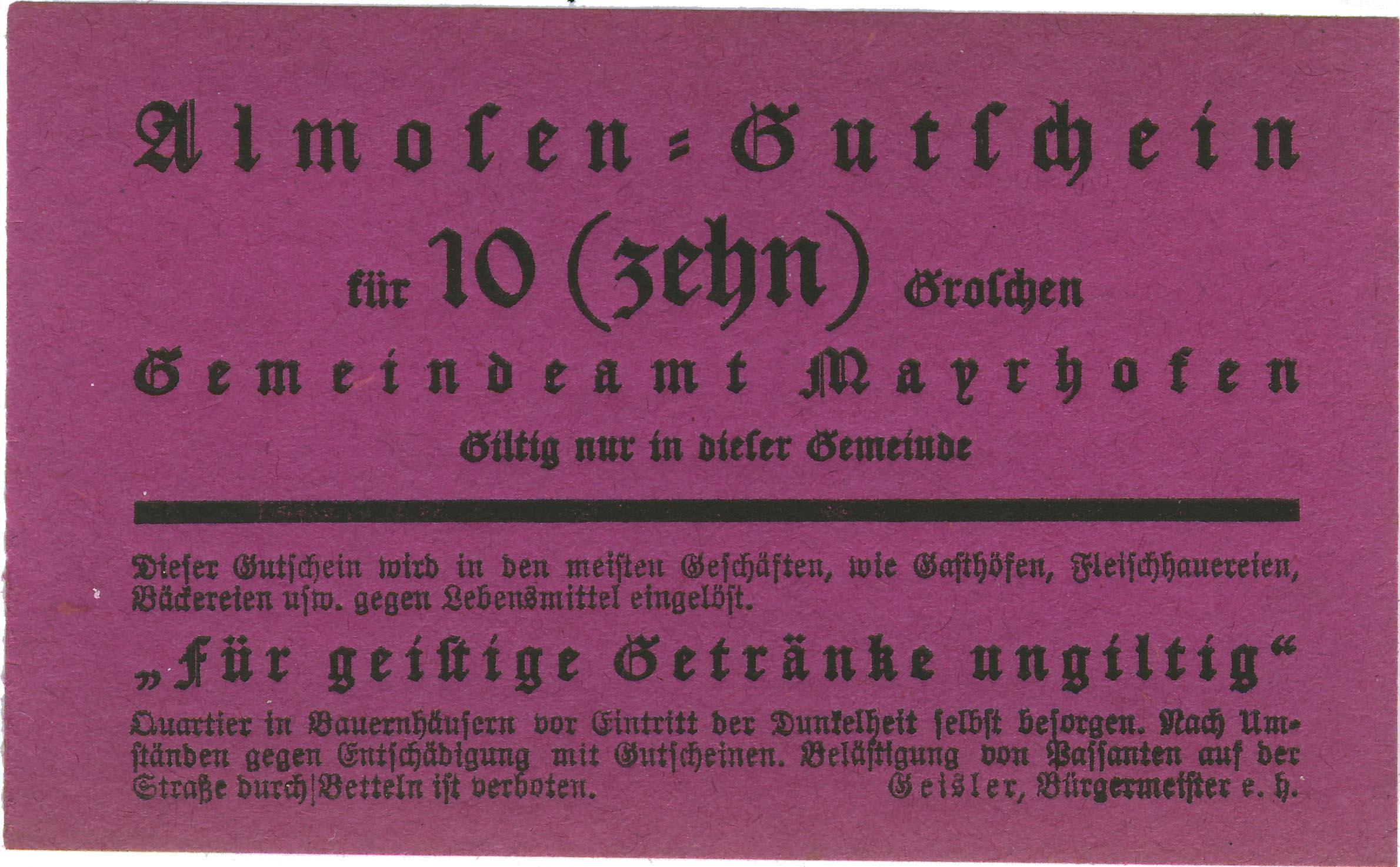 Katalog zum österreichischen Bettlergeld von Rudolf Richter ...