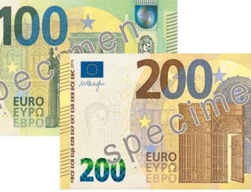 EZB stellt neuen 100 und 200 Euro Schein vor