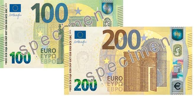 Ezb Stellt Neuen 100 Und 200 Euro Schein Vor Banknoten Geldscheine Papiergeld Notgeld Aus Osterreich