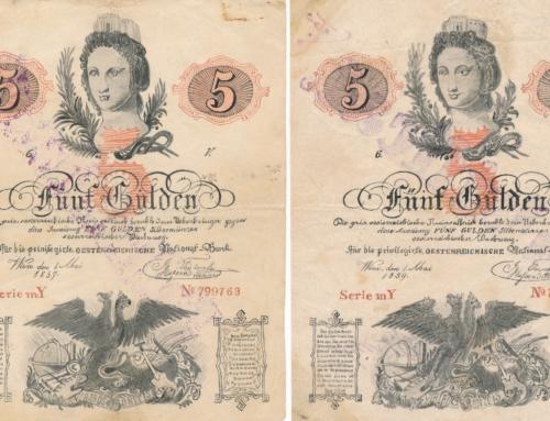 Fälschungen der 5 Gulden Banknoten von 1859