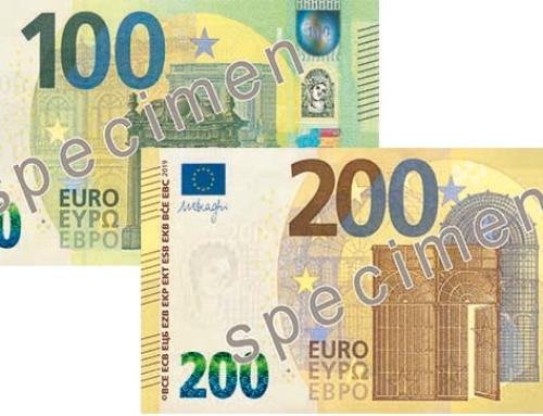 """Neues Sicherheitsfeature """"Satelliten-Hollogramm"""" auf 100 und 200 Euro Scheinen"""