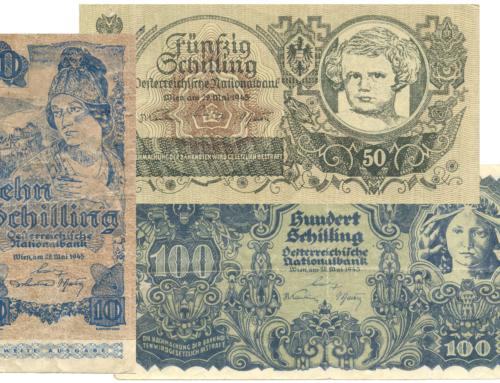 Schilling Fälschungen der Ausgaben von 1945 und 1947