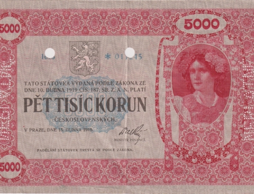 Bankovky Auktion mit Rekordpreis für tschechischen 5.000 Kronen Schein: 580.000 Euro!
